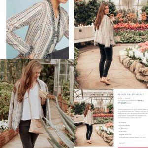 Eva Franco Reston Tweed Jacket Sz Med Petite